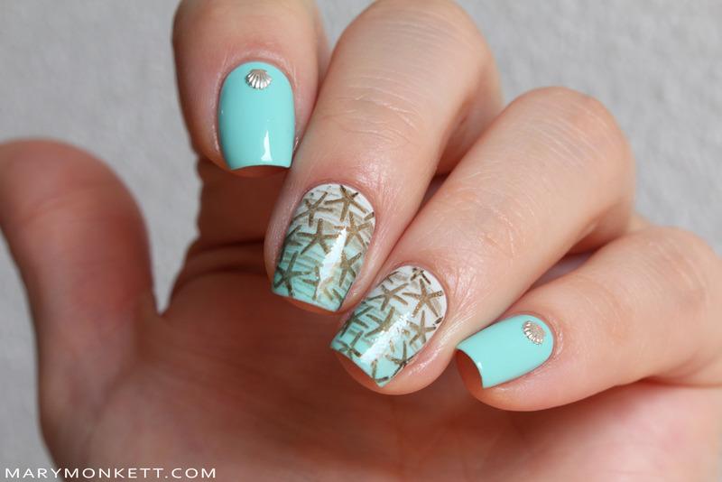 Blossom Dandy nail art by Mary Monkett