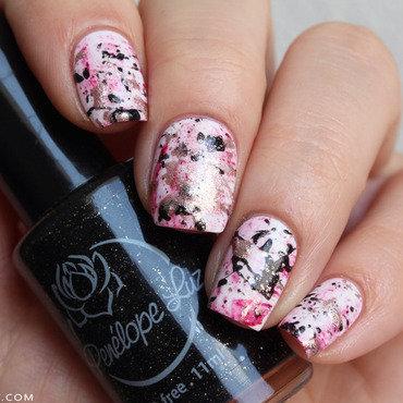 Splatter nails nail art by Mary Monkett