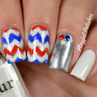 4th of July Nail Art nail art by Playful Polishes