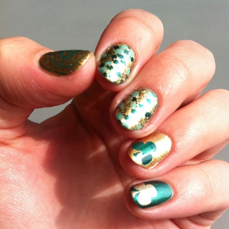 St. Patrick's Day Nail Art nail art by Adi Buki