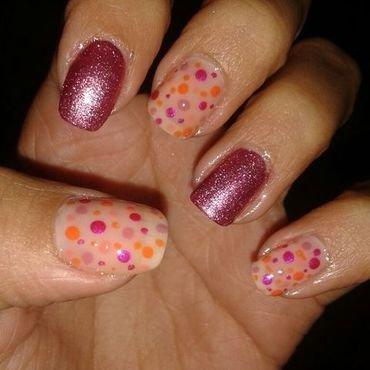 Fucsia  nail art by Andreea