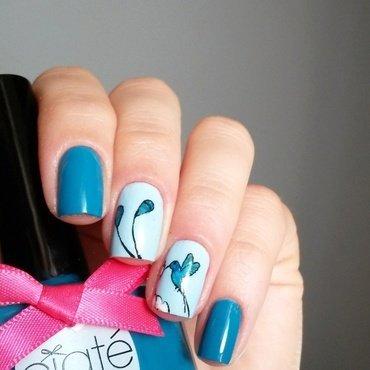 Colibri nail art by marina