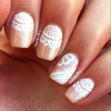 White Lace Nail Art nail art by Adi Buki