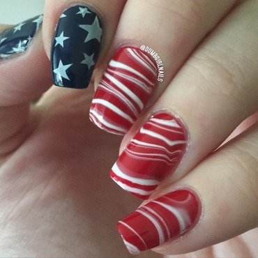 Independence Day +1 nail art by Michelle