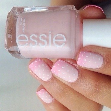 Soft pink gradient  nail art by Massiel Pena