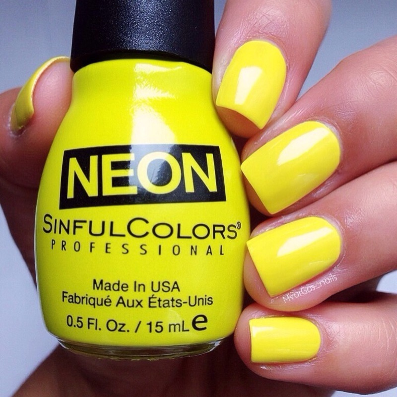 Neon Yellow Nail Polish Sinful Colors