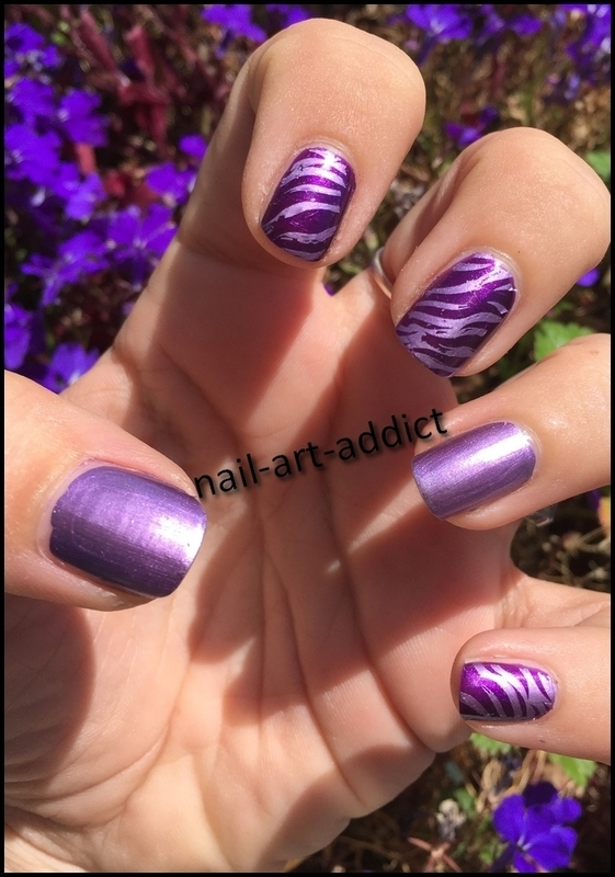 Nail Art : Purple Stamping nail art by SowNails