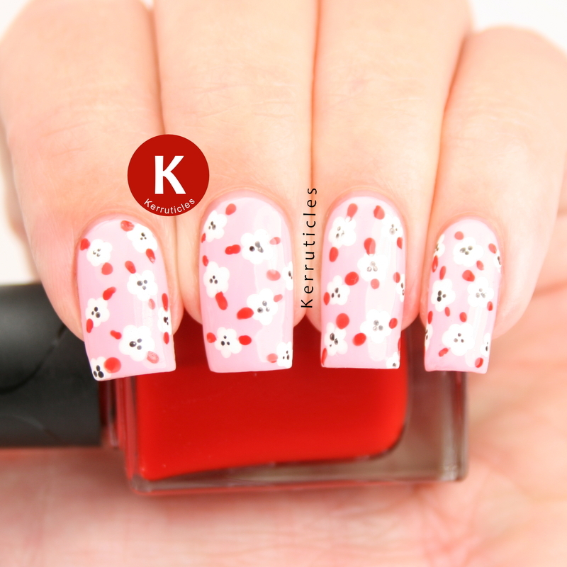 Pink red and white mini flowers nail art by claire kerr pink red and white mini flowers nail art by claire kerr prinsesfo Images