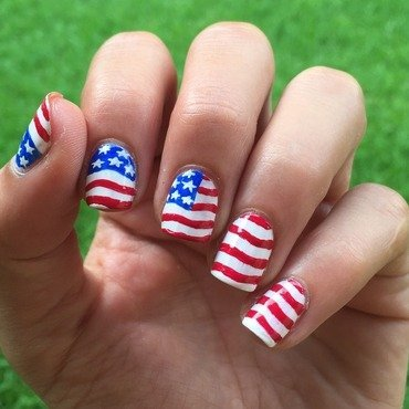 Land of the Free nail art by Ashley