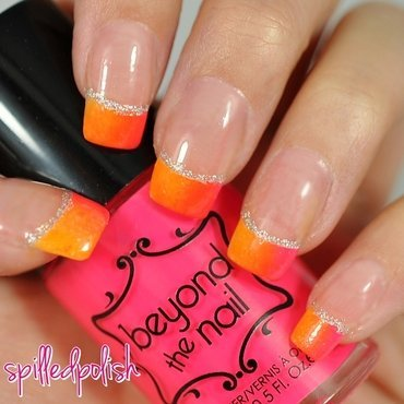 Neon Gradient Tips nail art by Maddy S
