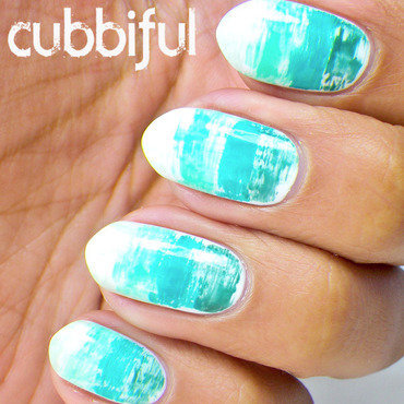 Dry Brush Gradient Nails nail art by Cubbiful