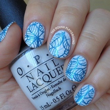 Double 20blue 20leafy 20stamping 20nail 20art thumb370f