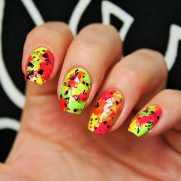 90`s love nail art by Jane