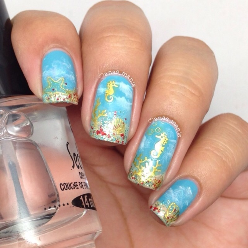Under the sea nail art by anas_manis