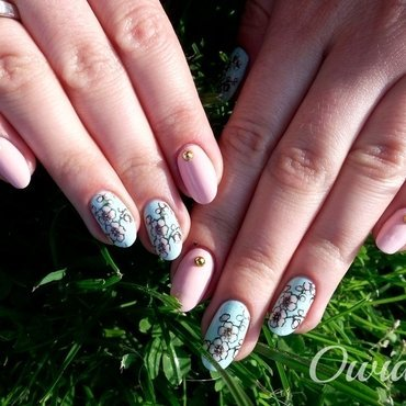 Cherry blossom. nail art by Owidia
