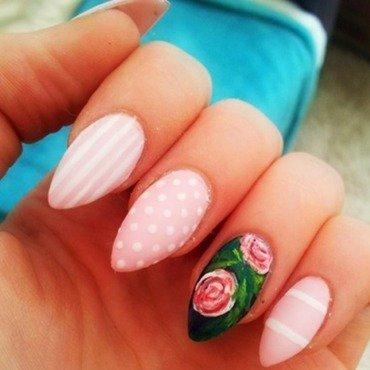 Rose nail art by Ellie Payne