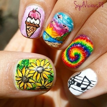 Summertime nail art by SydVicious