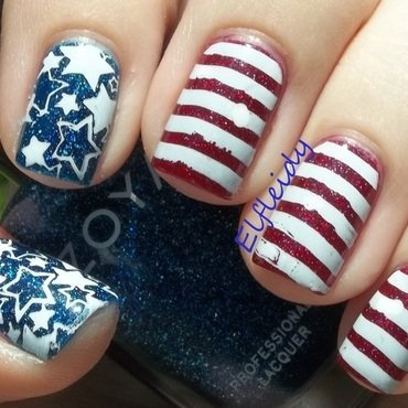 30DoCC- glitter/patriotic nail art by Jenette Maitland-Tomblin