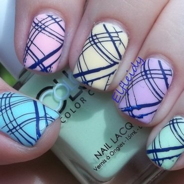 Three prompts, two groups, one mani! nail art by Jenette Maitland-Tomblin