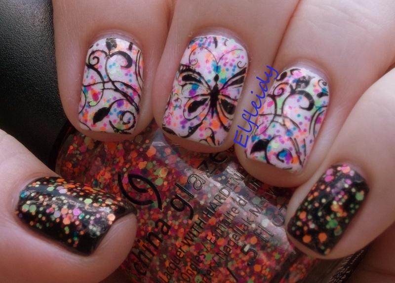 30DoCC- glitter  nail art by Jenette Maitland-Tomblin