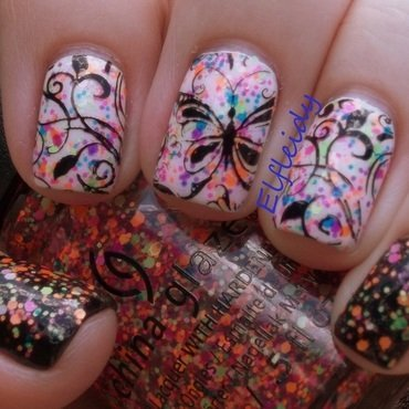 30DoCC- glitter  nail art by Jenette Maitland-Tomblin
