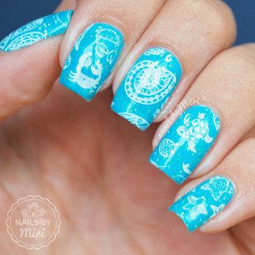 Sea Stamp nail art by xNailsByMiri