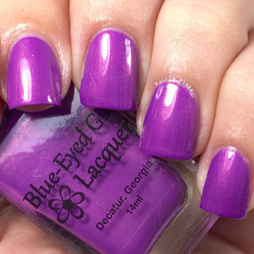 Blue-Eyed Girl Lacquer Wanna Fall in Love Tonight Swatch by Crystal Bond