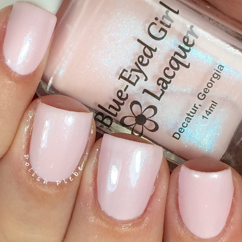 Blue-Eyed Girl Lacquer Cherry Blossom Swatch by Crystal Bond