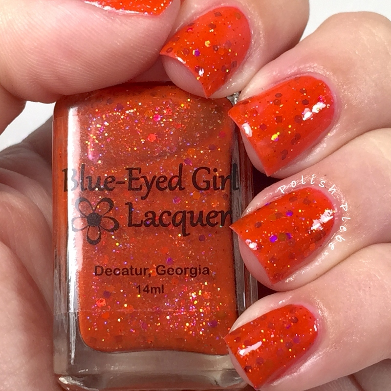 Blue-Eyed Girl Lacquer Fierce and Free Swatch by Crystal Bond