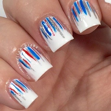 Patriotic Waterfall nail art by Crystal Bond