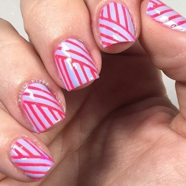 Bright Lines nail art by Crystal Bond