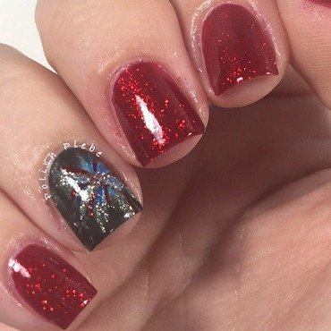 Fireworks nail art by Crystal Bond