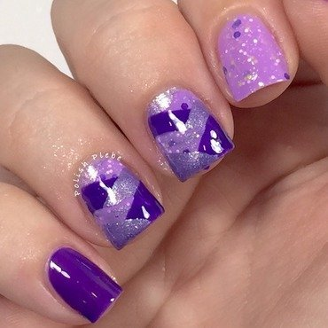 Purple Monochromatic Braided Nails nail art by Crystal Bond