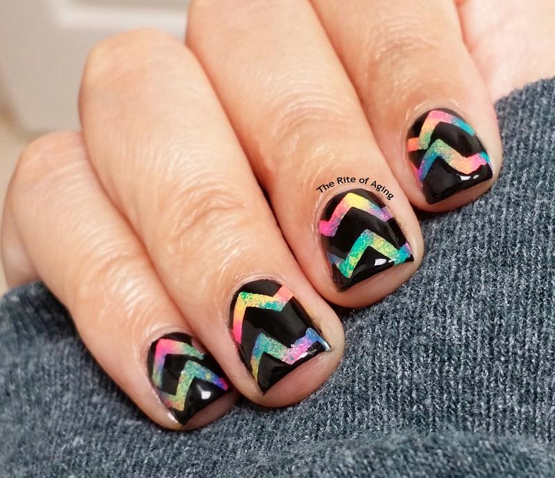 Neon SkratchArt Inspired Nail Art nail art by Monica