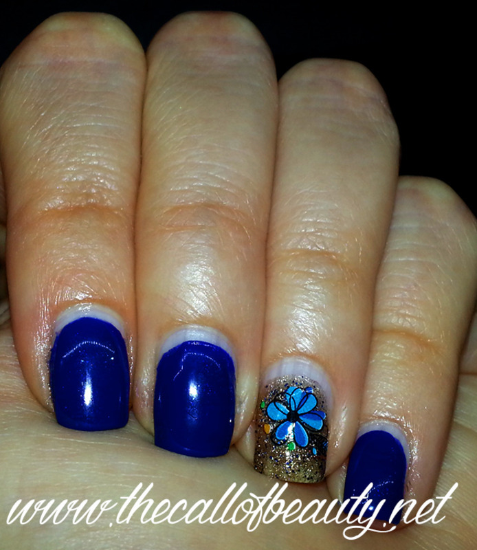 Glittery Accent nail art by The Call of Beauty