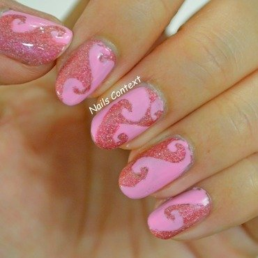 Pretty In Pink nail art by NailsContext