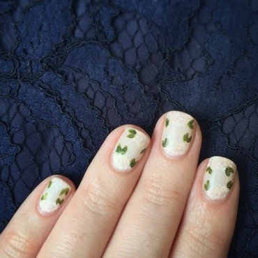 Painterly Floral Wedding Nails nail art by emlocke