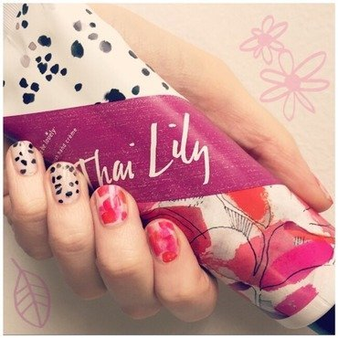 Thai Lily inspired by Illume Candles lotion nail art by emlocke