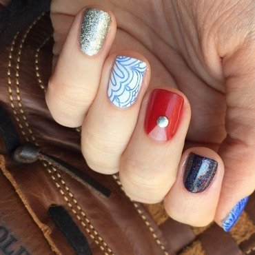 Fourth of July 2015 nail art by emlocke