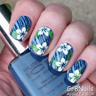 Blue-ming nail art by Gr8Nails