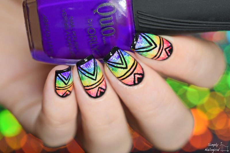 Rainbow dry-brush design nail art by simplynailogical - Nailpolis ...