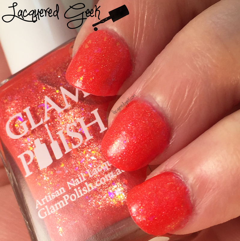 Glam Polish Hibiscus Swatch by Kim (Lacquered Geek)