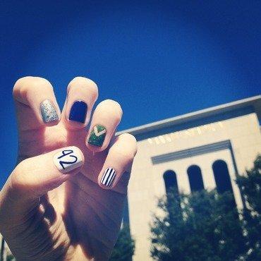 Mariano Rivera Day Nails nail art by emlocke