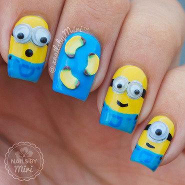 Minions! nail art by xNailsByMiri