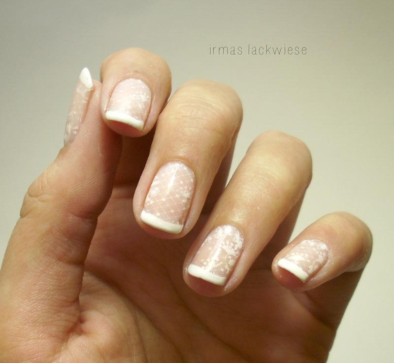 nail fail - stamping lace  nail art by irma