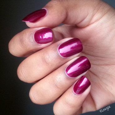 Pearly Vanda Burgundy nail art by Pinezoe