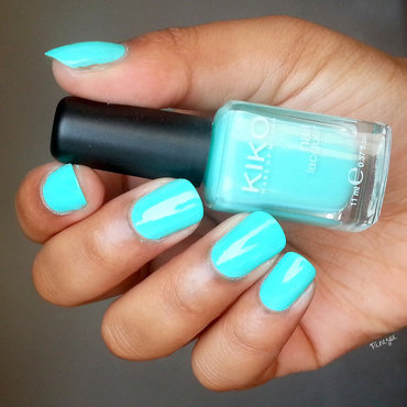 Kiko 389 Mint Milk Swatch by Pinezoe