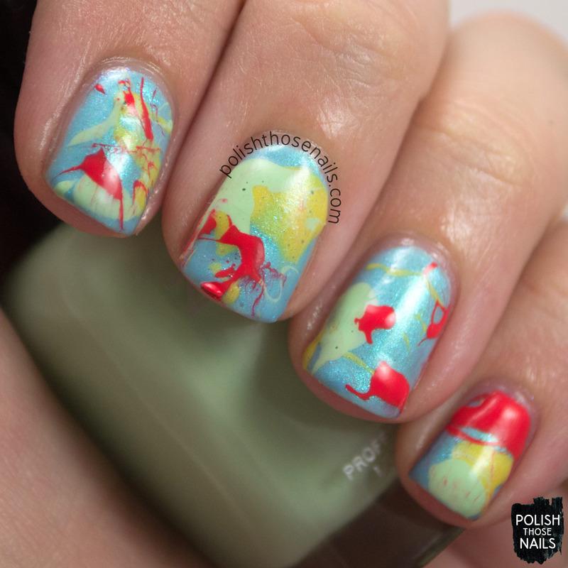 Splatter Splatter Splatter nail art by Marisa Cavanaugh - Nailpolis ...
