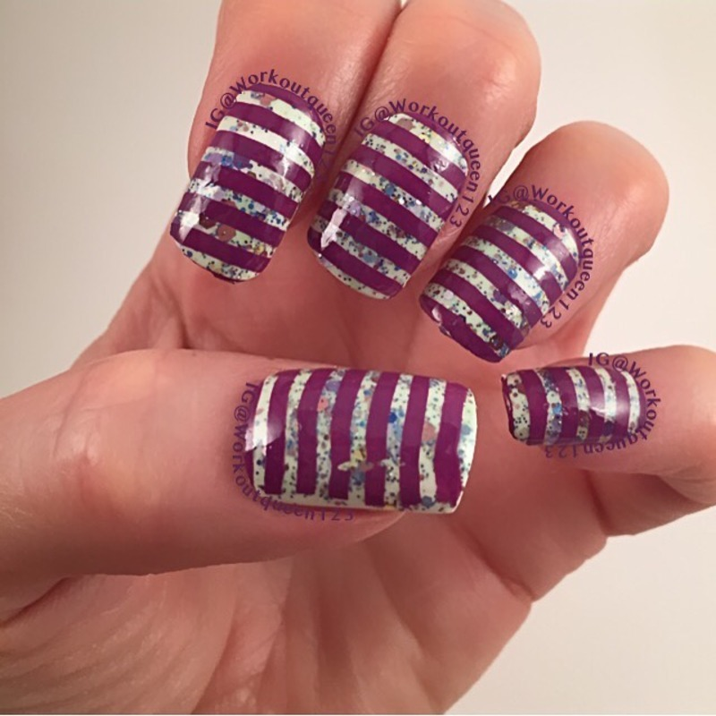 Stripes nail art by Workoutqueen123
