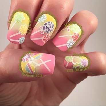 Lollipops nail art by Workoutqueen123